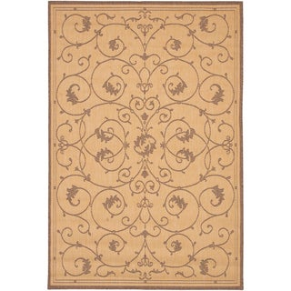 Recife Veranda Natural and Cocoa Area Rug (2' x 3'7)