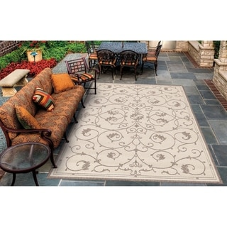 Couristan Recife Veranda/Natural-Cocoa Indoor/Outdoor Area Rug - 2' x 3'7