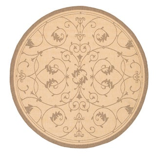 Recife Veranda Natural and Cocoa Area Rug (8'6 Round)