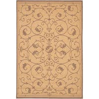 Recife Veranda Natural- Cocoa Indoor/Outdoor Area Rug - 8'6 x 13'