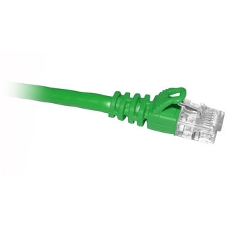 ClearLinks 100FT Cat. 5E 350HMZ Green Molded Snagless Patch Cable