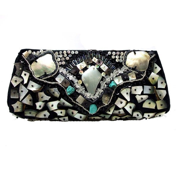 Handmade Mosaic Beauty Natural Shells Clutch (Philippines)