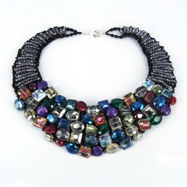 Rainbow Treasures Mix Stone Statement Necklace (Thailand)