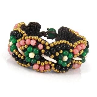 Festive Weave Mix Stone Statement Bracelet (Thailand)