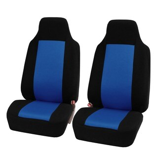 FH Group Blue Fabric Universal Front Bucket Seat Covers (Set of 2)
