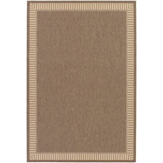 Recife Wicker Stitch Cocoa/ Natural Runner Rug (2'3 x 11'9)