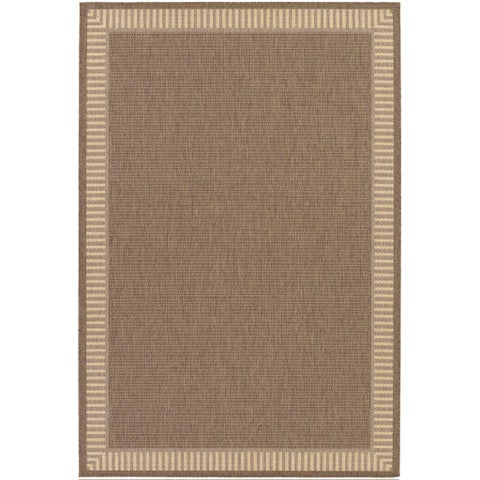 Recife Wicker Stitch Cocoa/ Natural Rug - 2' x 3'7