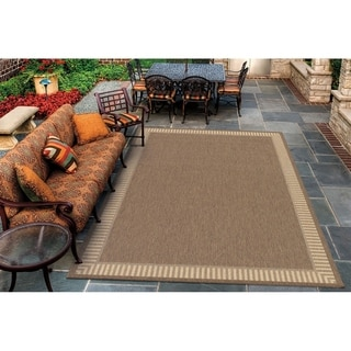 Pergola Flame Cocoa-Natural Indoor/Outdoor Area Rug - 3'9 x 5'5