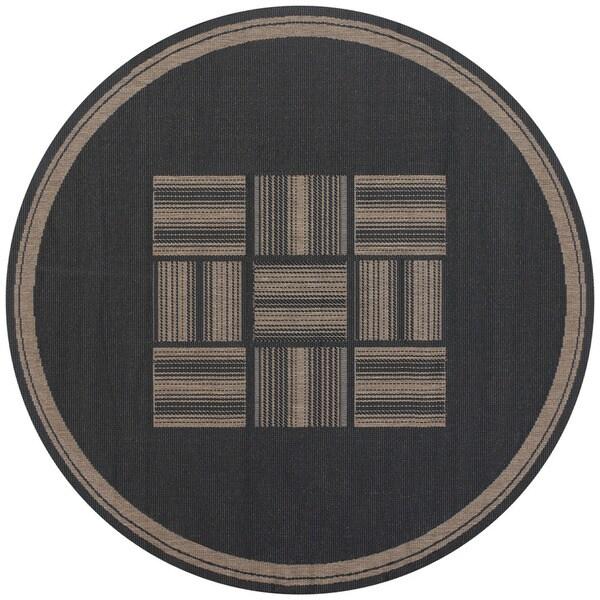 Recife Bistro Black/ Cocoa Rug (8'6 Round) - 8'6