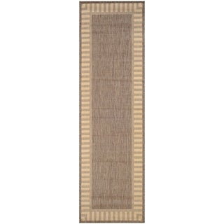 "Pergola Flame Cocoa-Natural Indoor/Outdoor Runner Rug - 2'3"" x 7'10"" Runner"