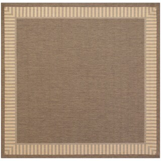 Pergola Flame Cocoa/Natural Square Area Rug - 8'6 x 8'6