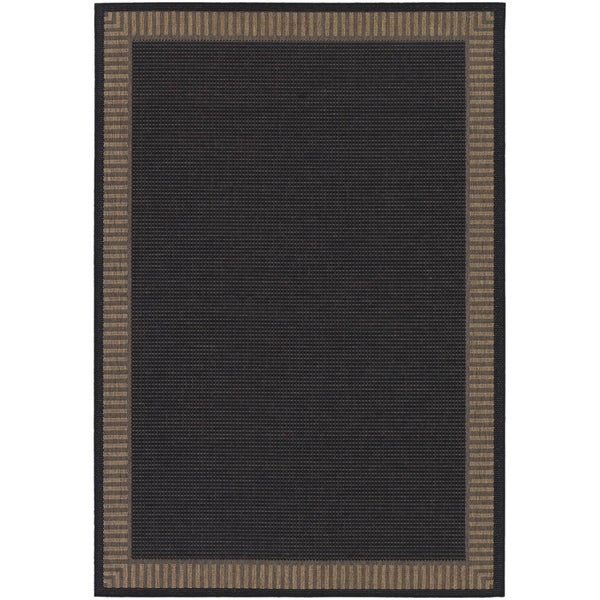 Shop Couristan Recife Wicker Stitch Black Cocoa Indoor