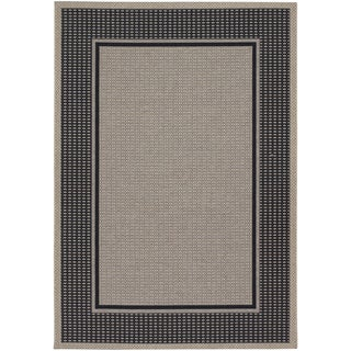 Tides Astoria/ Black Grey Rug (3'11 x 5'7)