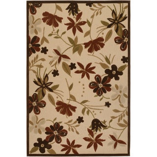 Urbane Botanical Garden Sand/ Terracotta Rug (6'3 x 9'2)