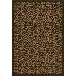Urbane Captivity Tan/ Brown Rug (7'6 x 10'9)