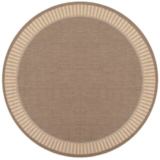 Power-Loomed Pergola Flame Cocoa/Natural Polypropylene Rug (7'6 Round)