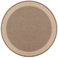 Pergola Flame Cocoa/Natural Outdoor Round Area Rug - 7'6 x 7'6