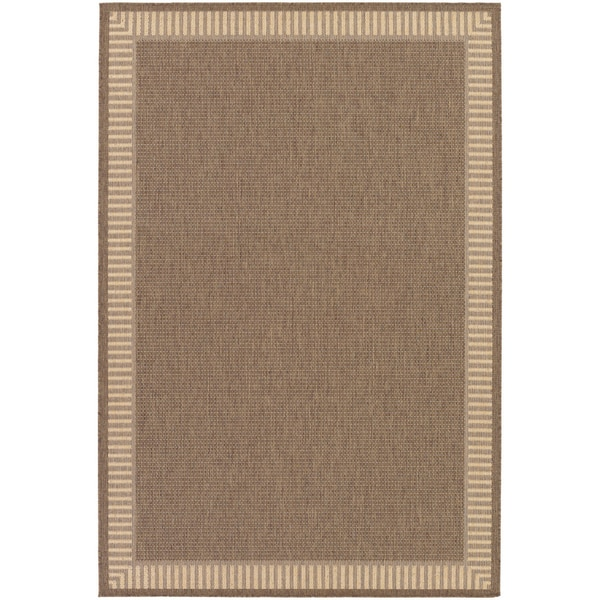 Pergola Flame Cocoa/ Natural Indoor/ Outdoor Area Rug - 8'6 x 13'