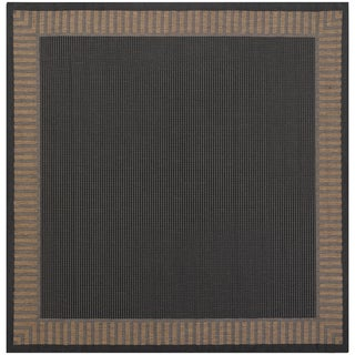 Power-Loomed Pergola Flame Black/Cocoa Polypropylene Rug (7'6 Square)