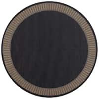 Pergola Flame Black/Cocoa Indoor/Outdoor Area Rug - 8'6 x 8'6