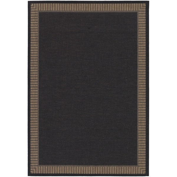 Pergola Flame Black/Cocoa Indoor/Outdoor Area Rug - 8'6 x 13'