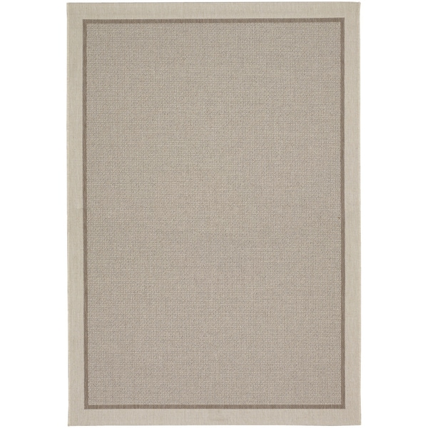 Tides Freeport Beige and Cocoa Rug (6'7 x 9'6)