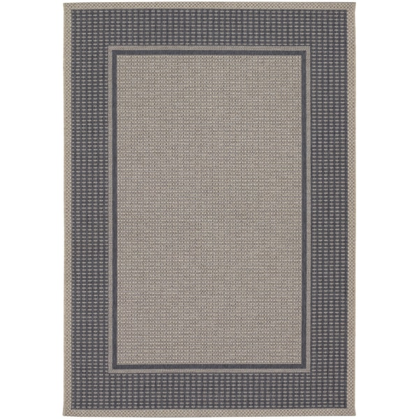 Tides Astoria Charcoal and Grey Rug (2' x 3'7)