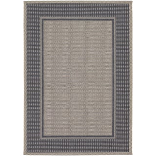 Tides Astoria Charcoal and Grey Rug (3'11 x 5'7)