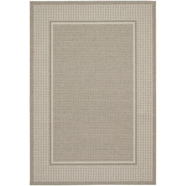Tides Astoria Beige and Fern Rug (5'3 x 7'6)