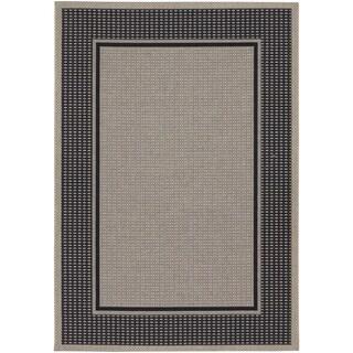 Tides Astoria Black and Grey Rug (5'3 x 7'6)
