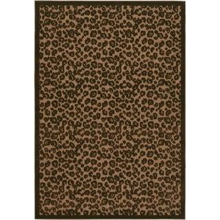 Couristan Urbane Captivity/Tan-Brown Indoor/Outdoor Area Rug - 5'2 x 7'6