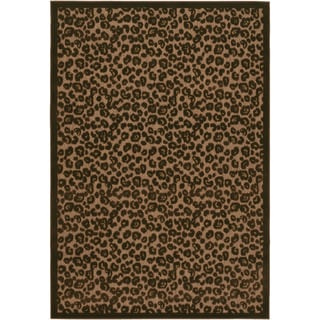 Power-Loomed Couristan Urbane Captivity/ Tan Rug (2' x 3'7)