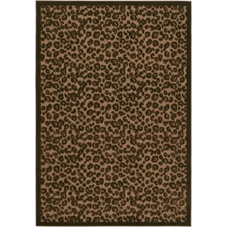 Couristan Urbane Captivity/Tan-Brown Indoor/Outdoor Area Rug - 2' x 3'7