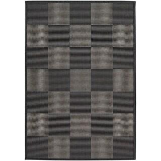 Tides Black/ Grey Rug (3'11 x 5'7)