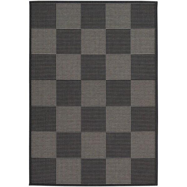 Tides Black/ Grey Rug (7'10 x 10'10)