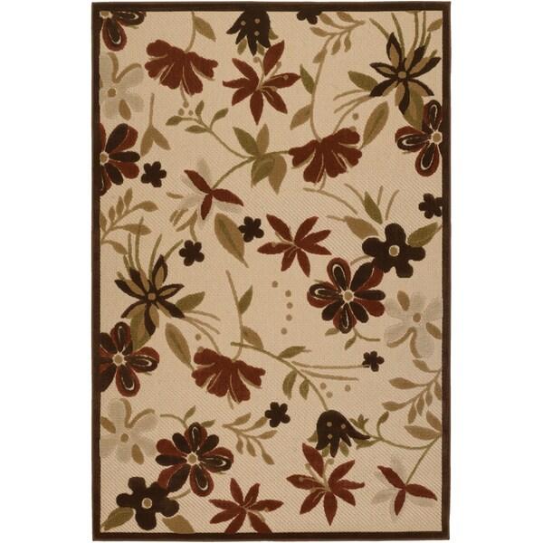 Courtisan 'Urbane Botanical Garden' Sand Rug (7'6 x 10'9)