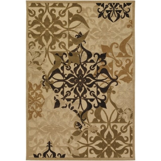 Courtisan Urbane 'Gatesby' Sand/ Ivory Rug (7'6 x 10'9)