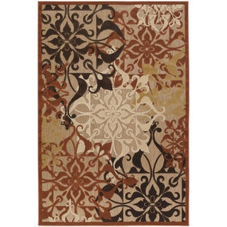 Courtisan Urbane 'Gatesby' Tan/ Terra-cotta Rug (3'8 x 5'5)