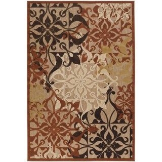 Couristan Urbane Gatesby/Tan-Terra Cotta Indoor/Outdoor Area Rug - 3'8 x 5'5
