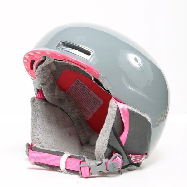 Smith 'Allure' Large Frost Gray and Pink Snowsport Helmet