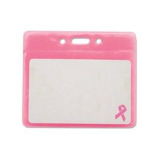Breast Cancer Awareness Pink Badge Holder (Pack of 25)