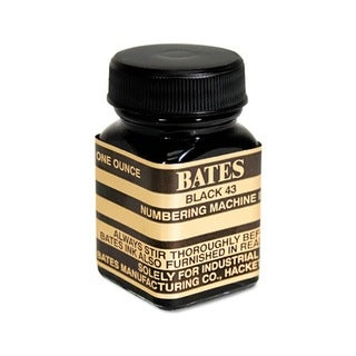 Bates Numbering Machine 1-ounce Black Ink Refill