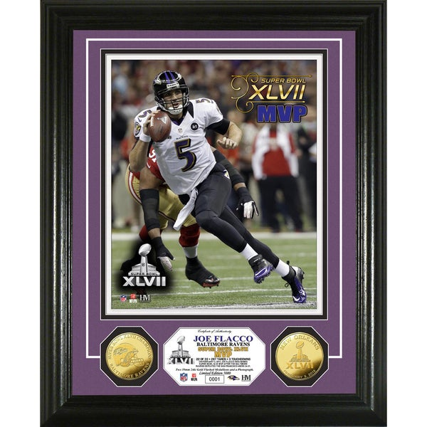 Baltimore Ravens Super Bowl XLVII MVP Coin and Photo Mint