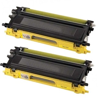 Brother Compatible TN210 High Yield Yellow Toner Cartridges (Pack of 2)