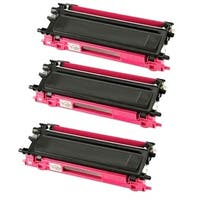 Brother Compatible TN210 High Yield Magenta Toner Cartridges (Pack of 3) - Red