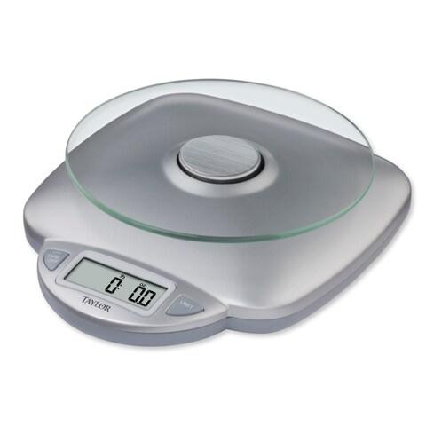 Taylor Silver Glass Digital Kitchen Scale