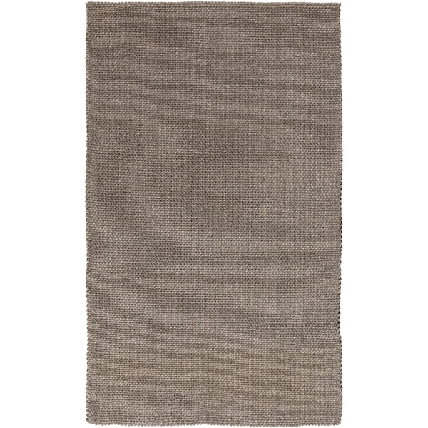 "Hand-loomed Solid Brown Casual Wool Area Rug - 3'3"" x 5'3"""
