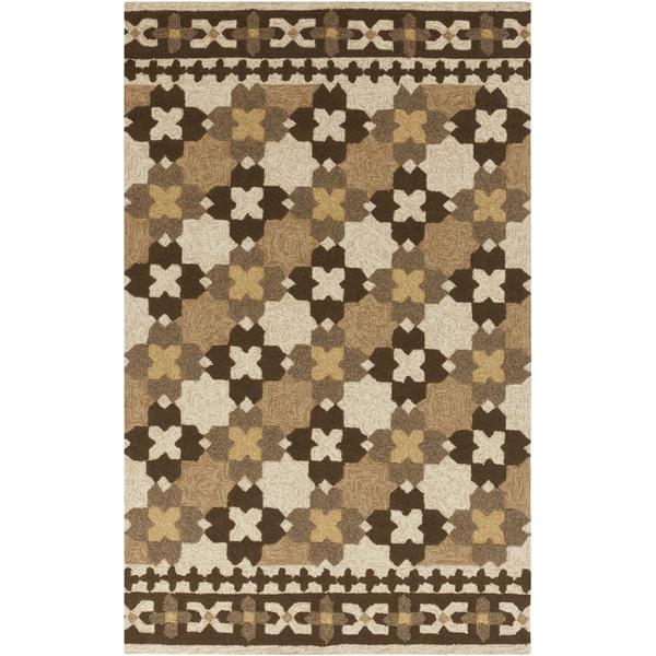 Hand-hooked Moroccan Parsnip Indoor/Outdoor Rug (2' x 3')