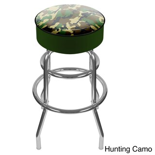 Trademark Hunting Design Padded Swivel Bar Stool (Option: Hunting Camo Padded Swivel Bar Stool)