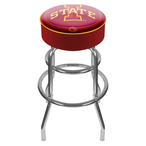 Officially Licensed Collegiate Logo Padded Bar Stool